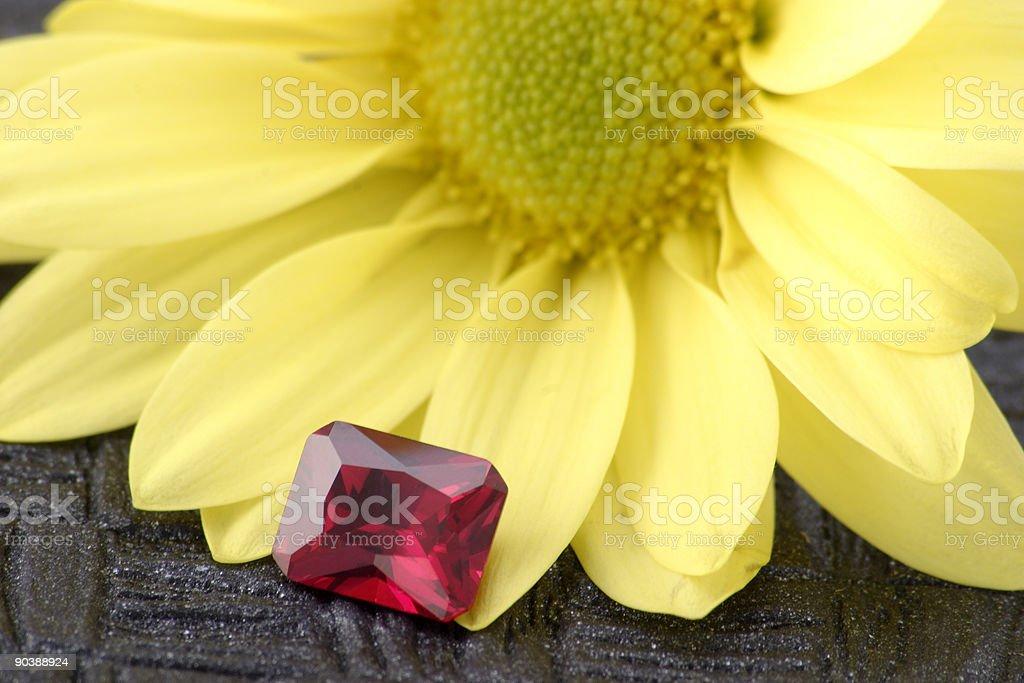 Fancy Cut Ruby stock photo