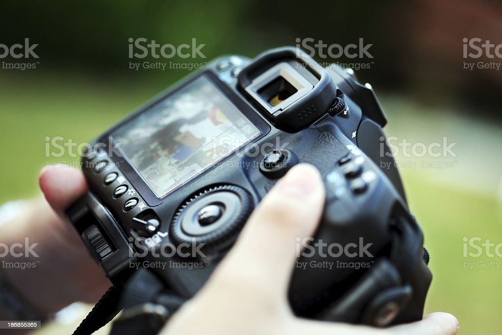 fancy digital camera with controls stock photo