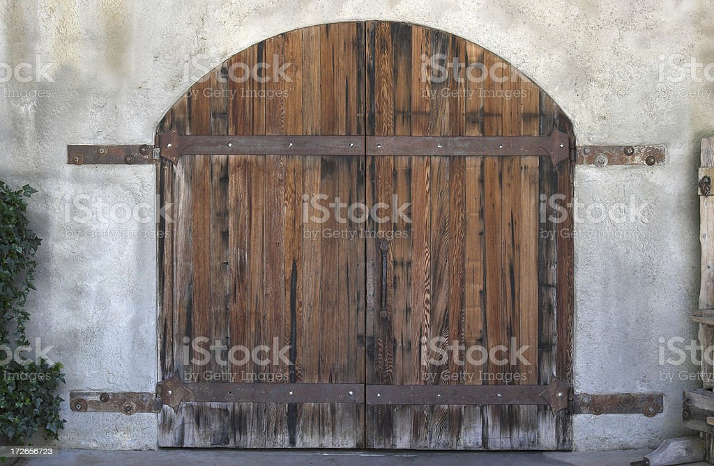 Fancy Double Doors royalty-free stock photo