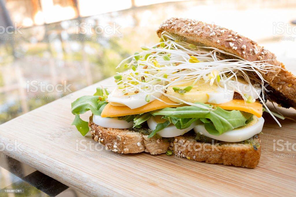 Fancy Egg Sandwich stock photo