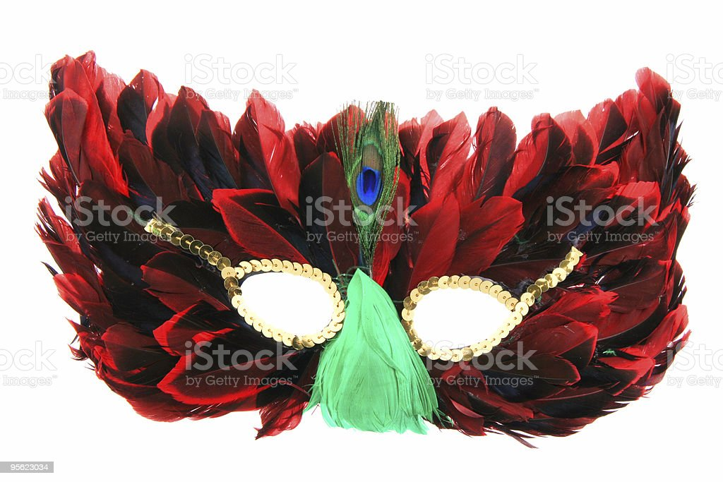 fancy face mask royalty-free stock photo