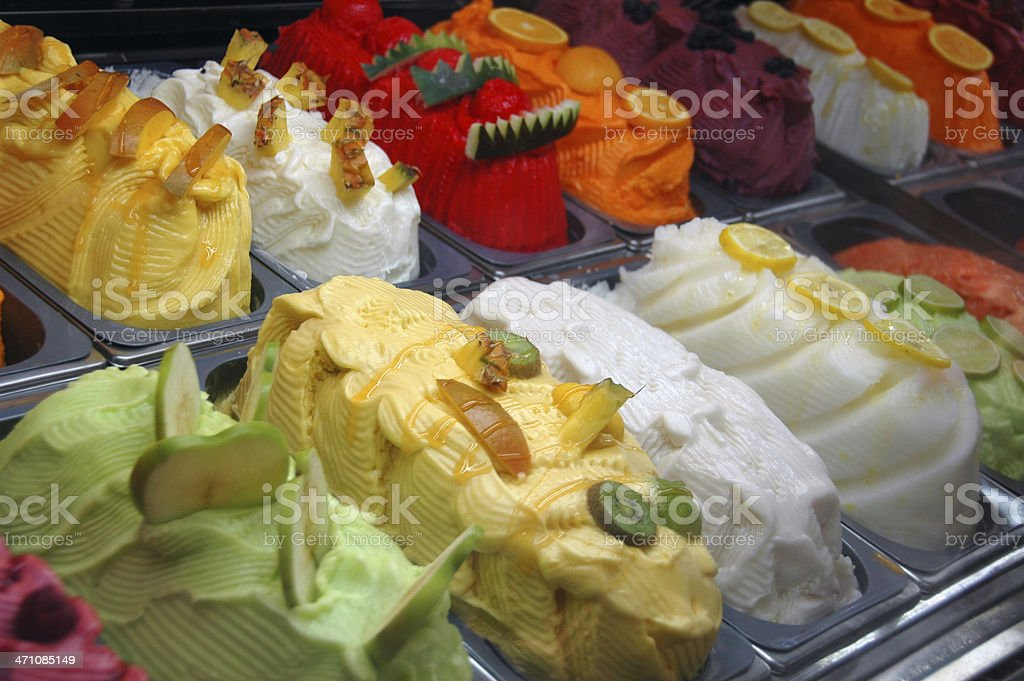 Fancy Gelato stock photo