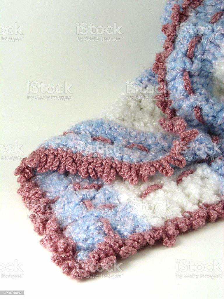 Fancy Hand-Crocheted Blanket stock photo
