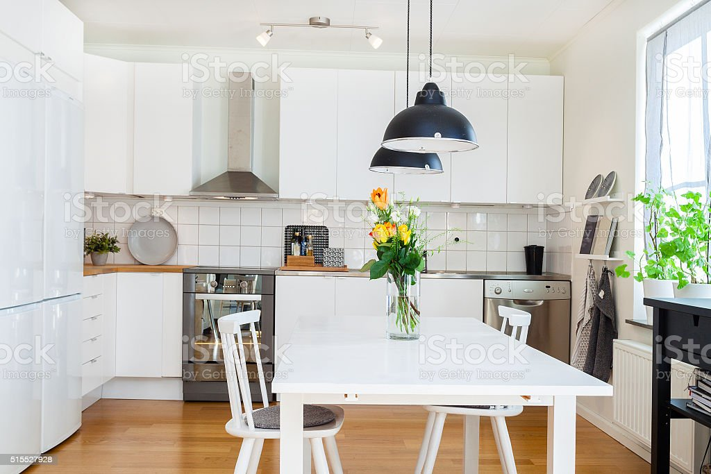 fancy kitchen interior stock photo