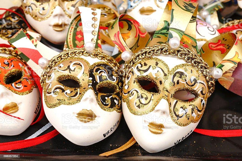 fancy masks stock photo
