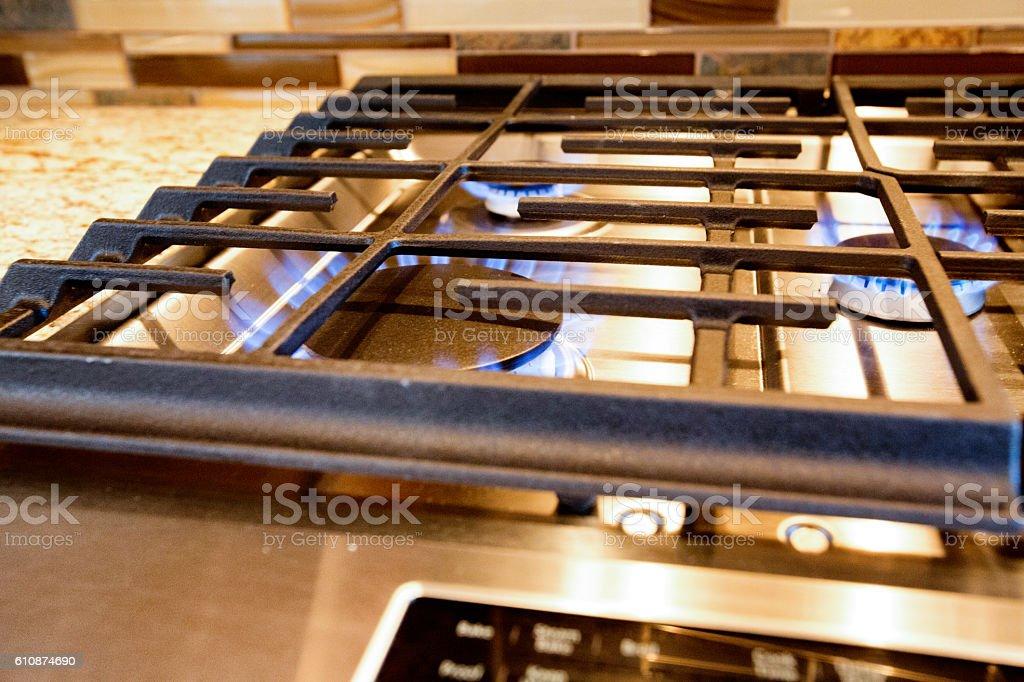 Fancy Modern Gas Stove stock photo