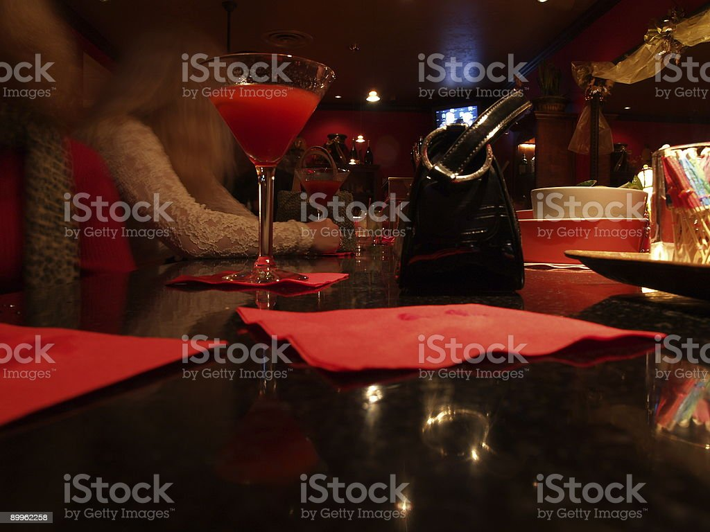 fancy night out for drinks royalty-free stock photo