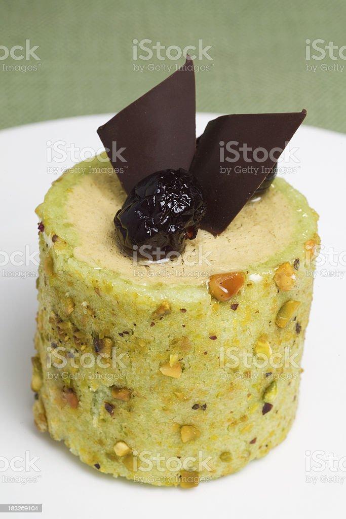 Fancy Pistachio Mousse Pastry royalty-free stock photo