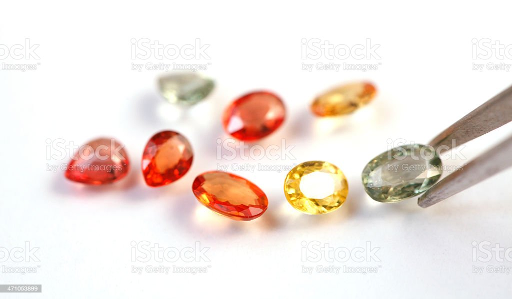 Fancy Sapphires royalty-free stock photo