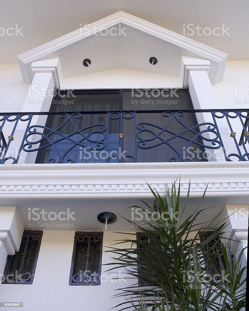 Fancy Spanish Balcony Treatment royalty-free stock photo