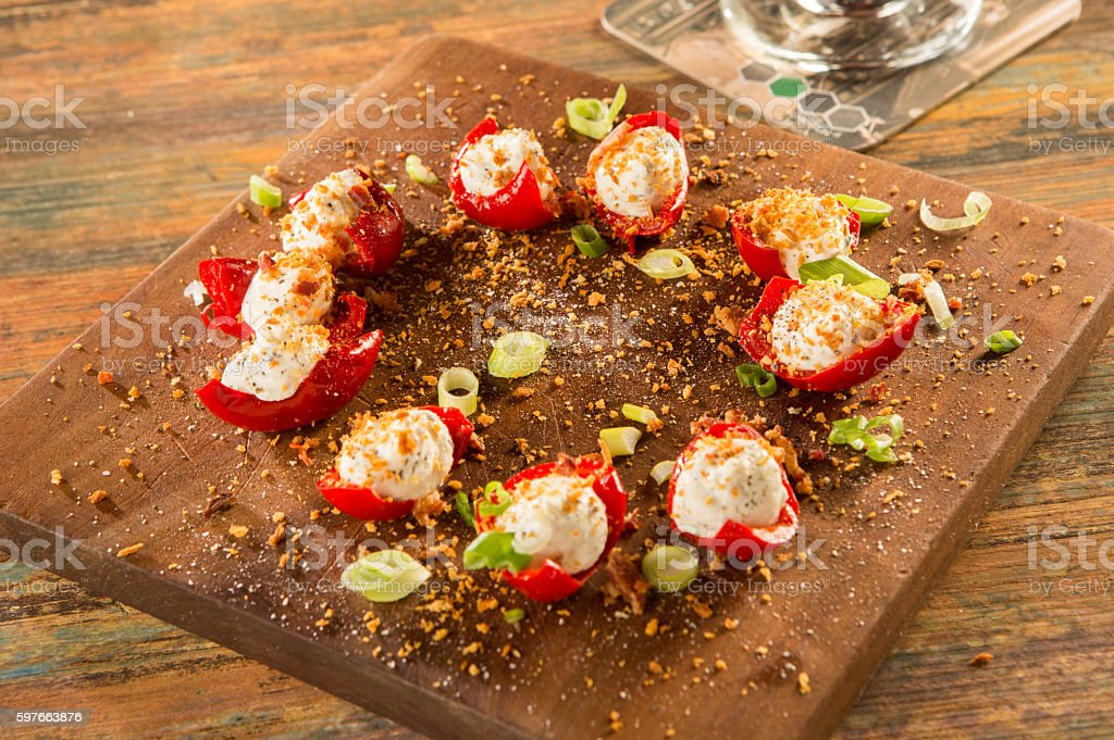 Fancy tomato appetizer stock photo
