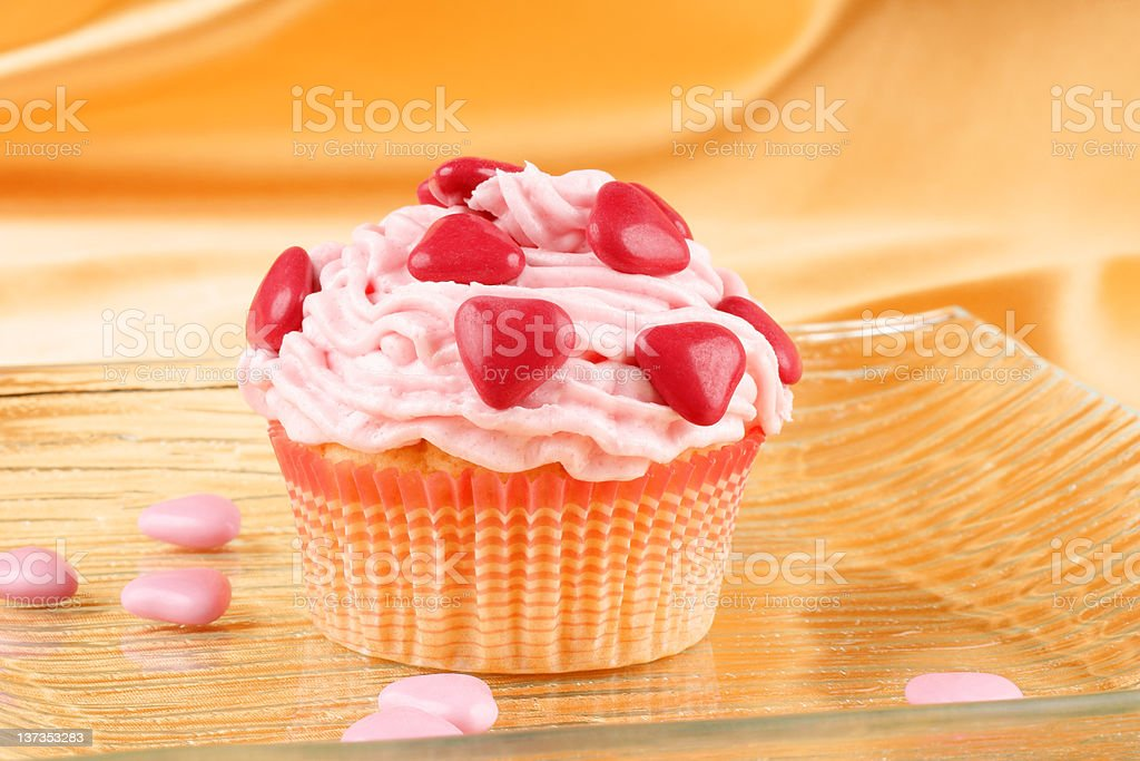 Fancy Valentine's day cupcake royalty-free stock photo