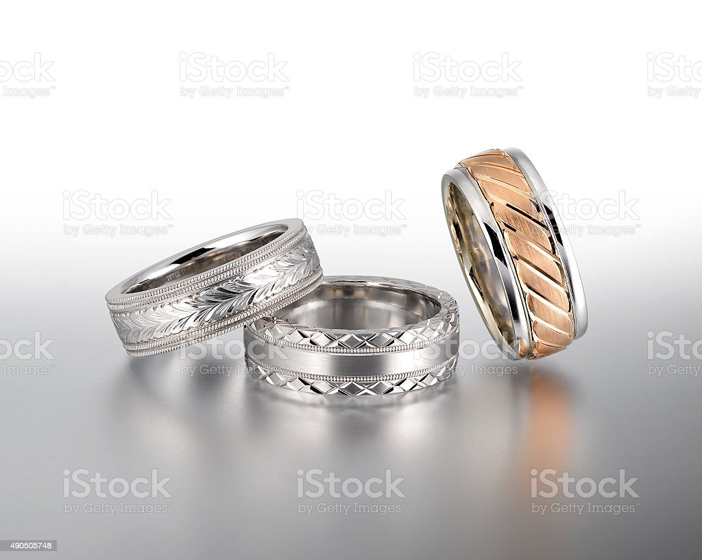 Fancy Wedding Bands stock photo