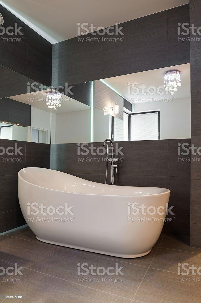 Fancy white bath stock photo