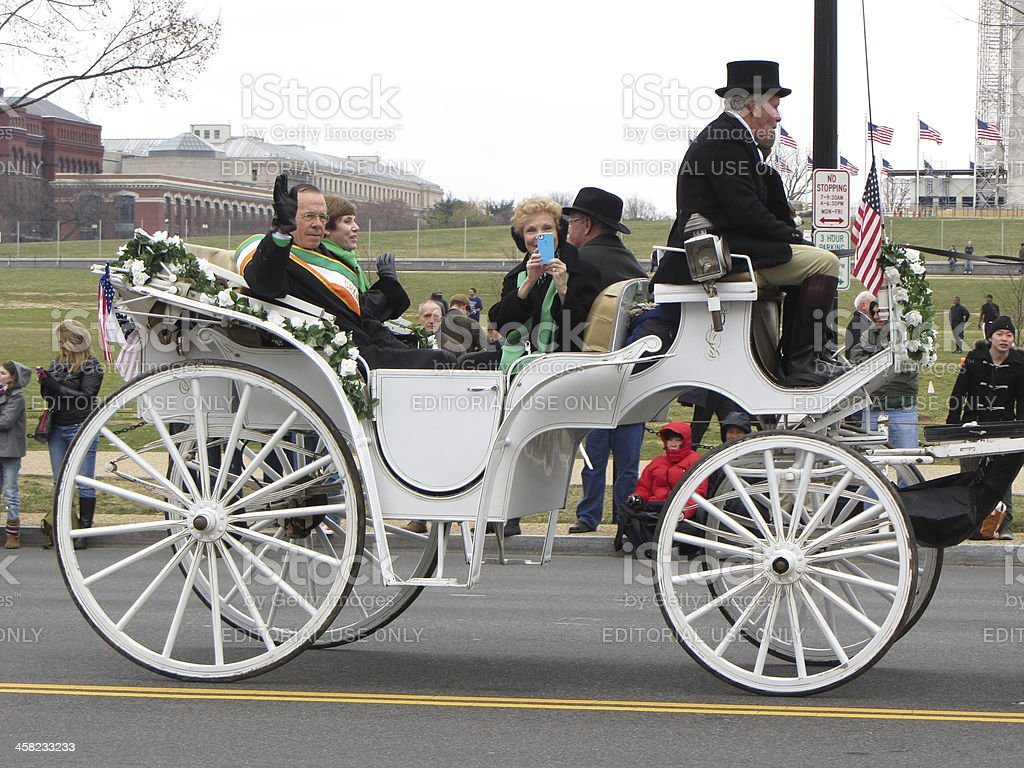 Fancy White Carriage royalty-free stock photo