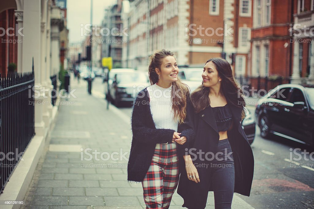 Fancy women in London stock photo