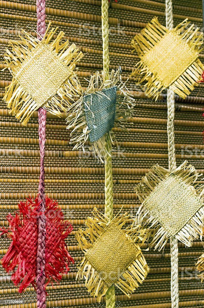 Fancy woven curtain royalty-free stock photo