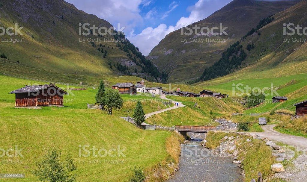 Fane Alp in Italy stock photo
