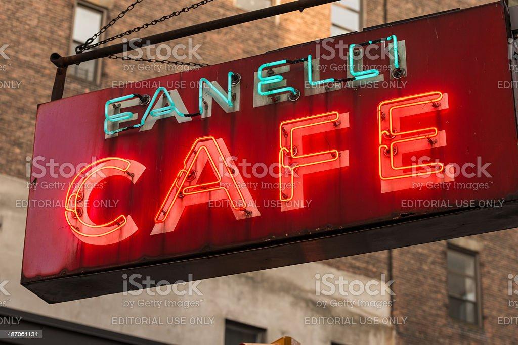 Fanelli Cafe stock photo