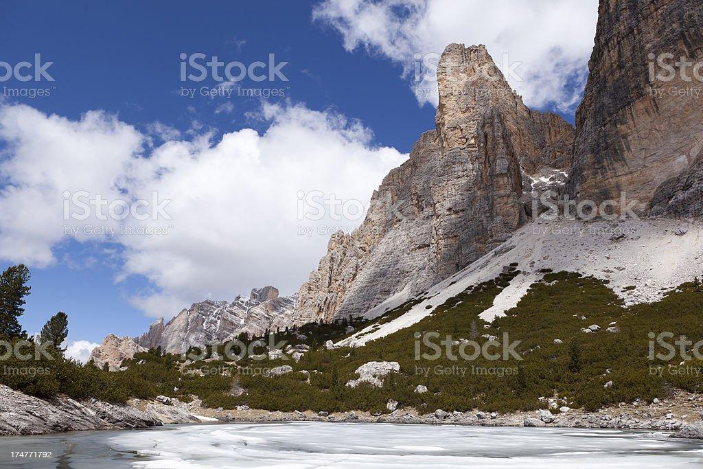 Fanes-Sennes-Prags Nature Park, Dolomites. royalty-free stock photo