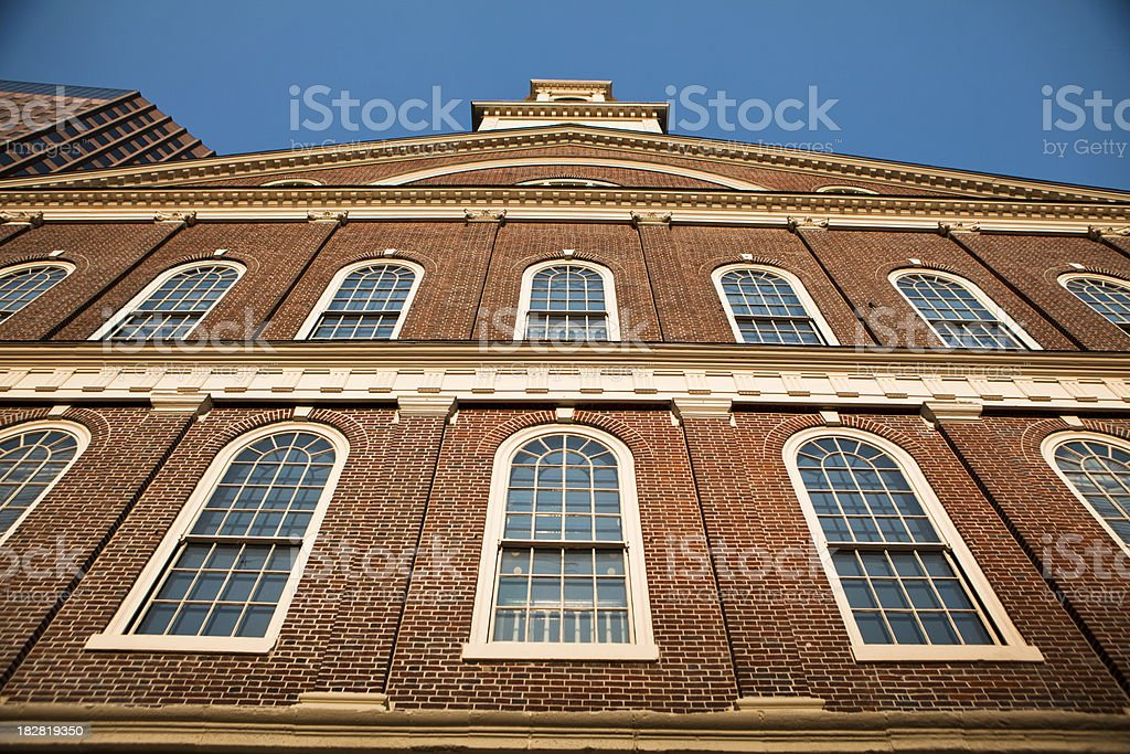 Faneuil Hall, Boston, Massachusetts stock photo