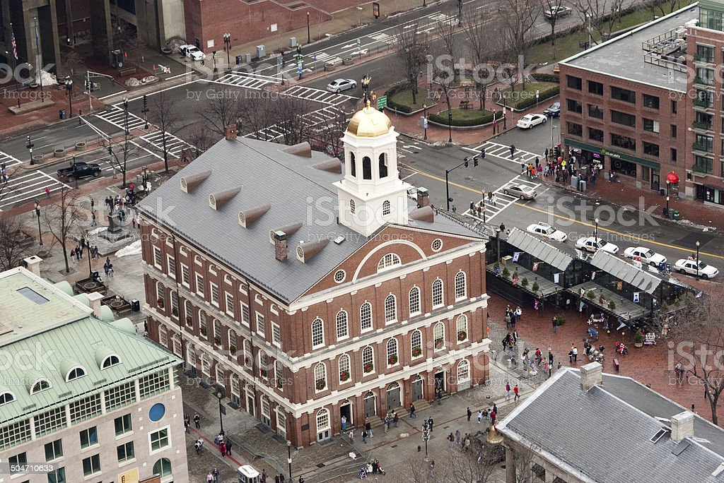 Faneuil Hall, Boston stock photo