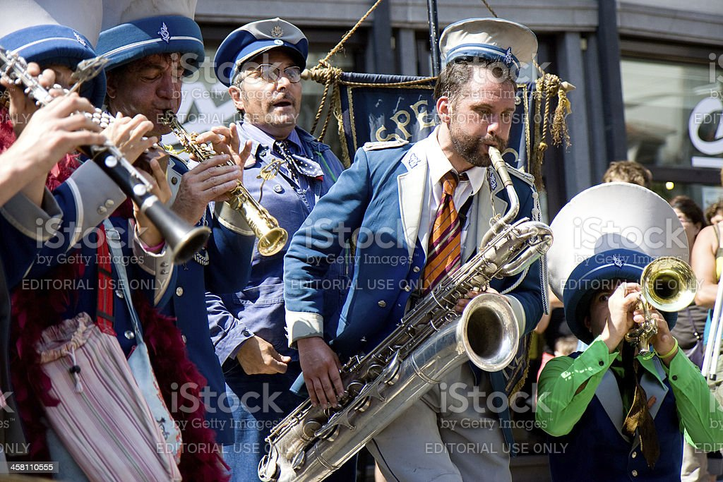 Fanfare in street show. royalty-free stock photo