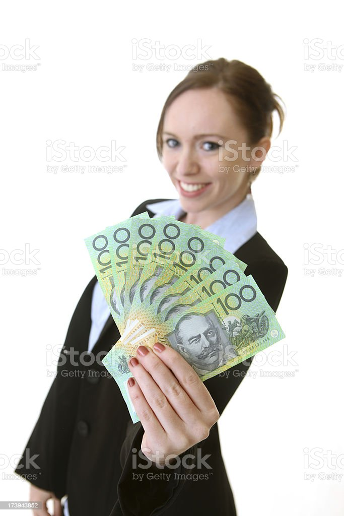 Fanned Out Australian Money royalty-free stock photo
