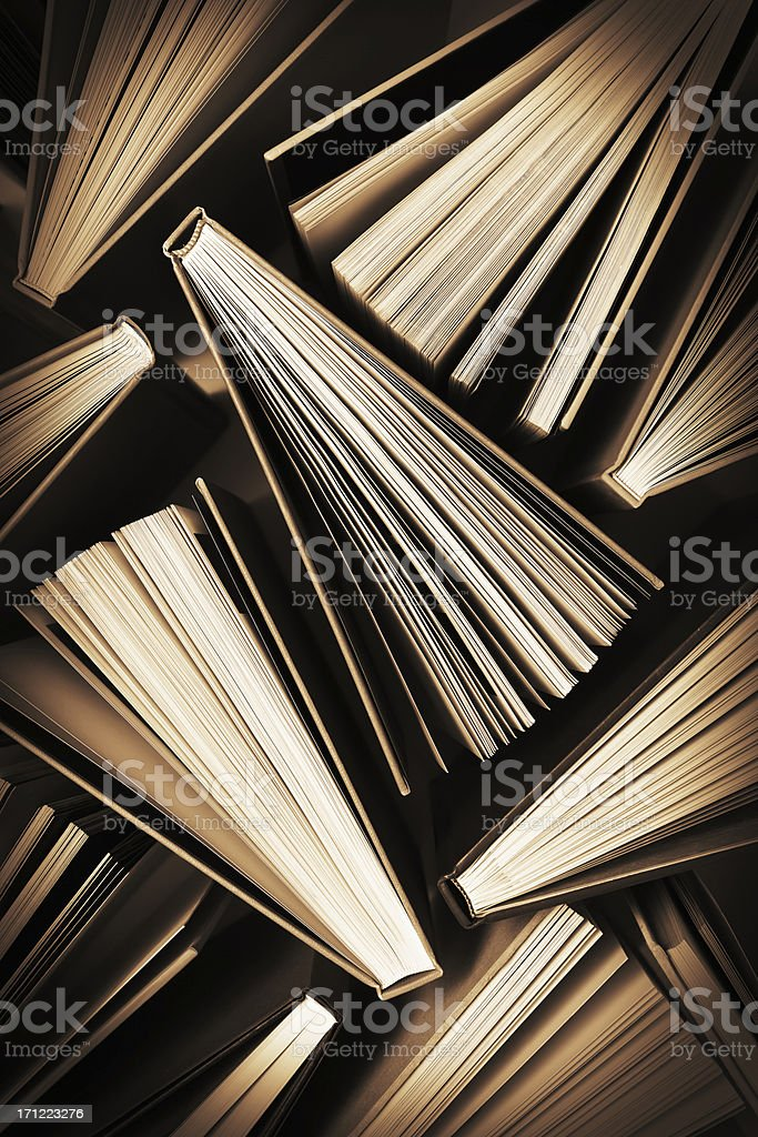 Fanned Out Books Pattern stock photo
