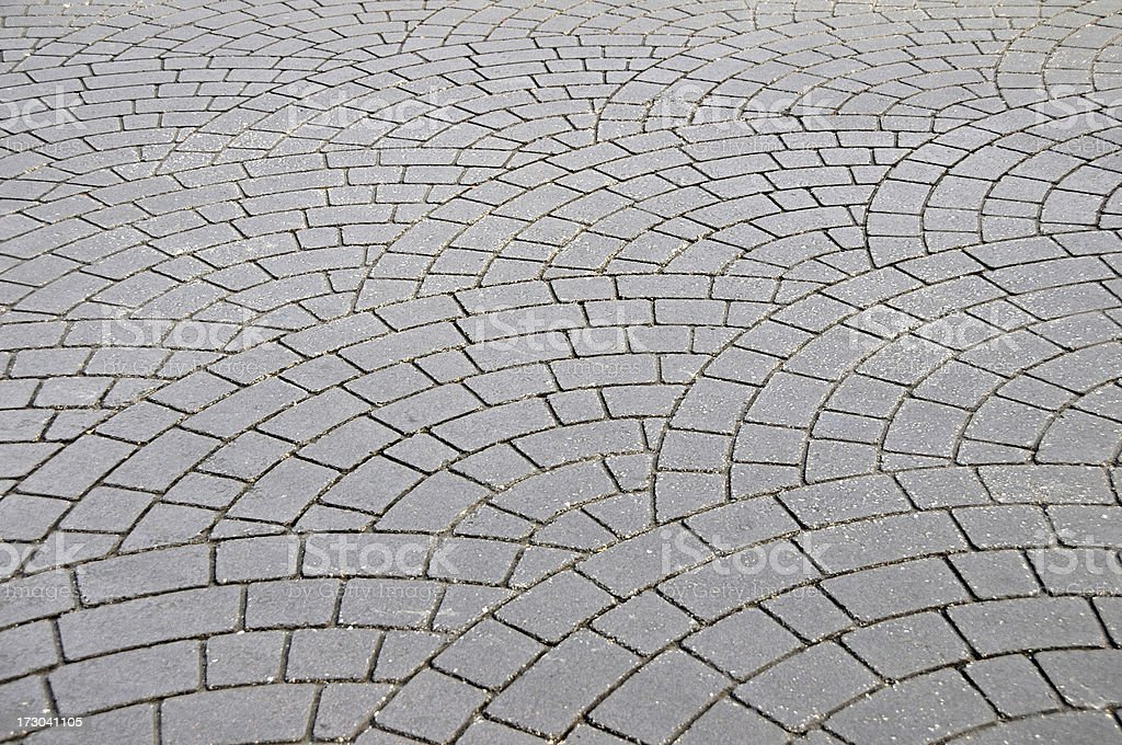 Fanned Pavers royalty-free stock photo