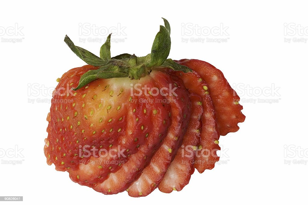 Fanned Strawberry stock photo