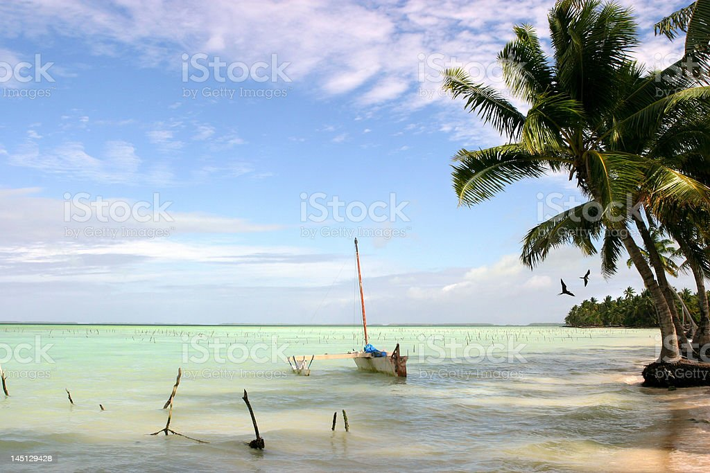 Fanning Island stock photo