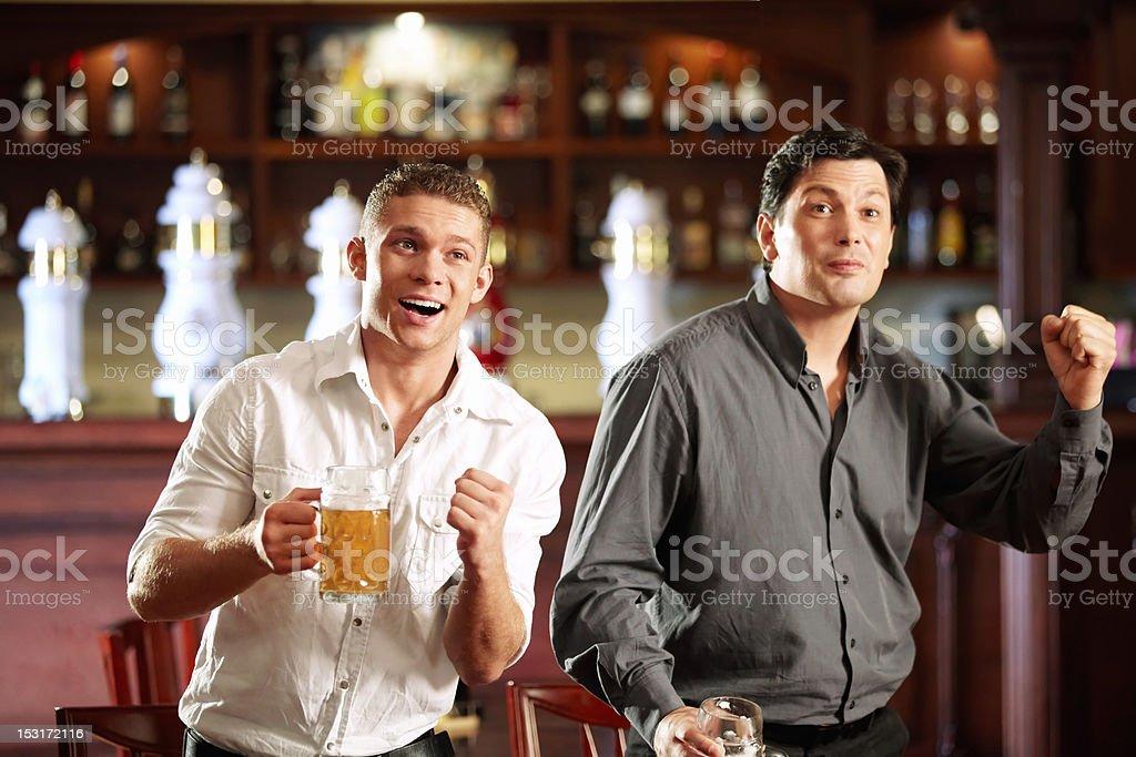 Fans at the bar royalty-free stock photo