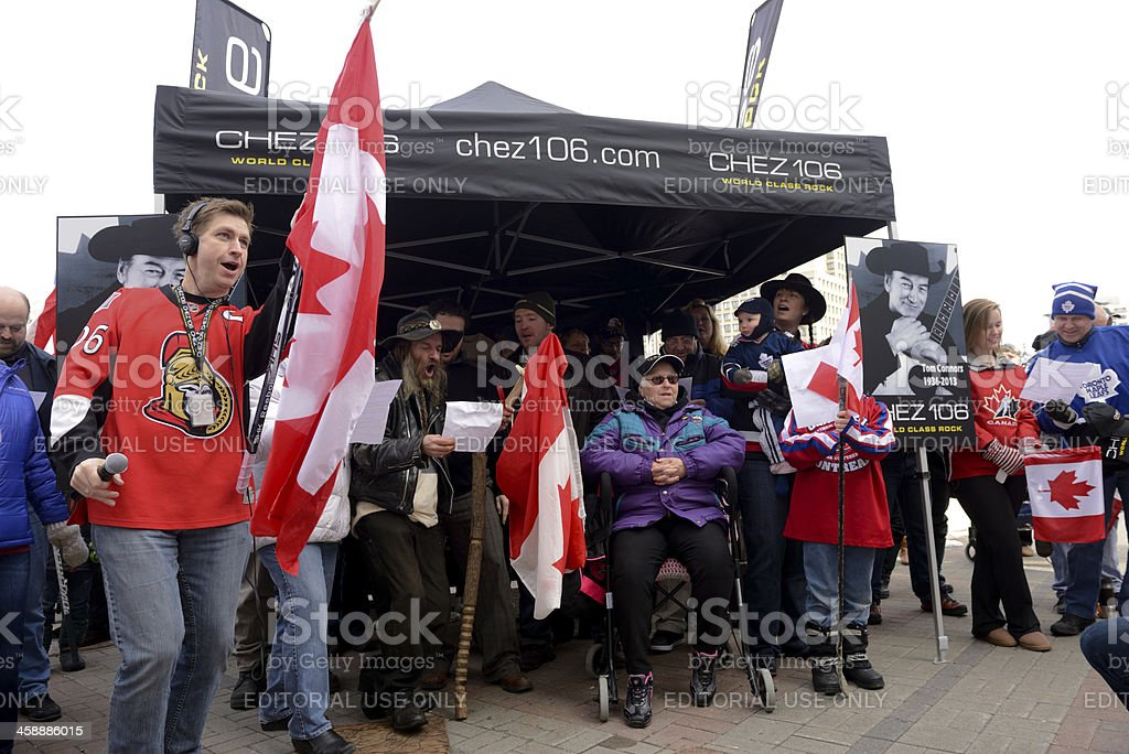 Fans honor Stompin' Tom Connors stock photo