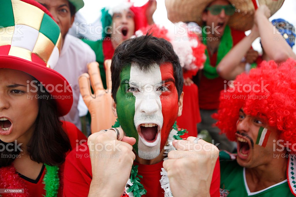 Fans of Mexico stock photo