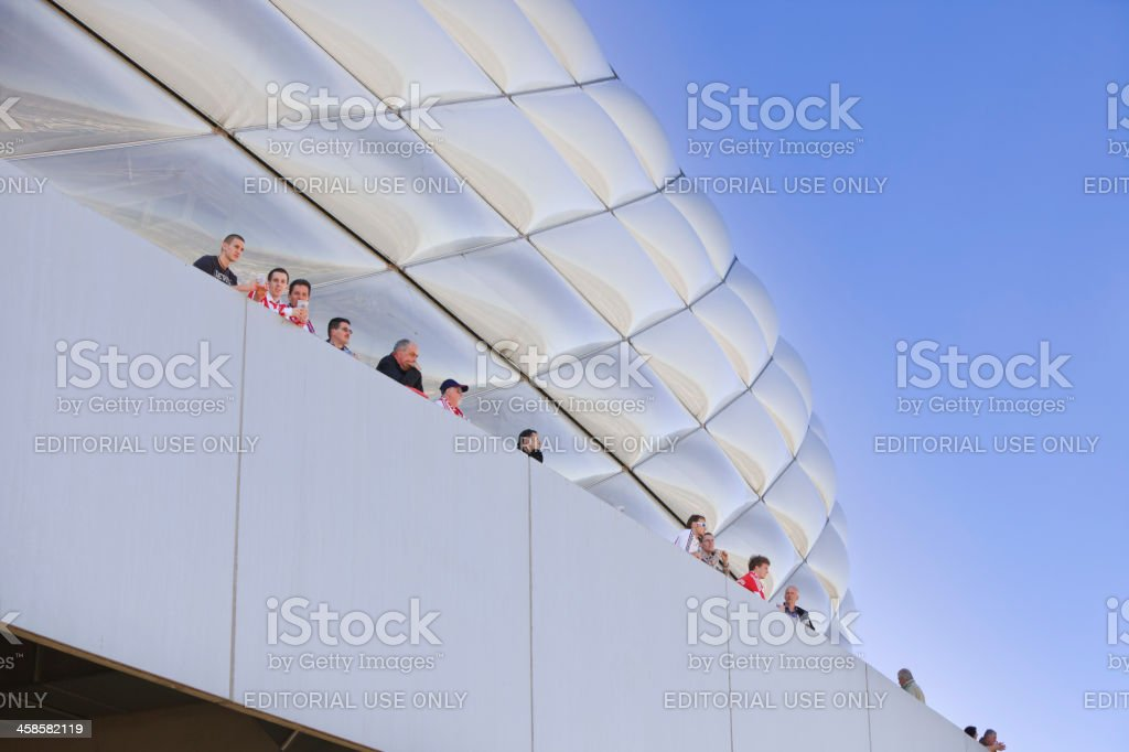 Fans of soccer club Bayern München, Germany royalty-free stock photo