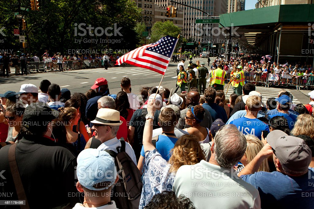 Fans of the US Women National Soccer Team stock photo