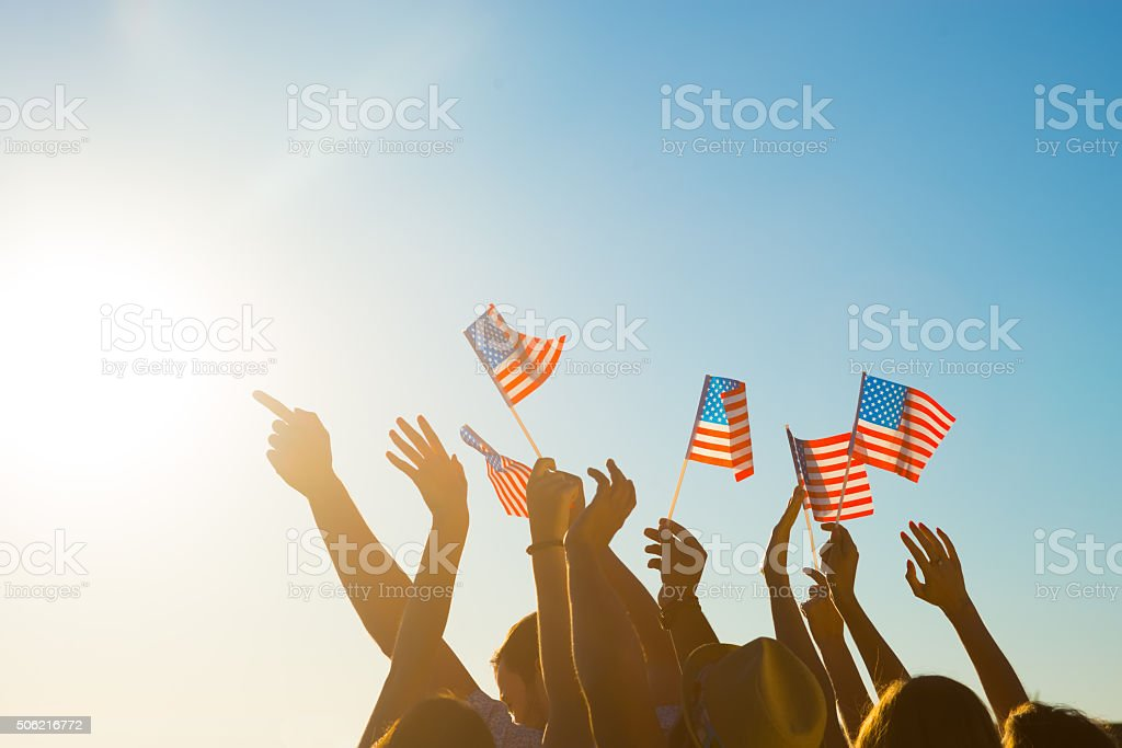Fans on the concert of your favorite pop stars. stock photo