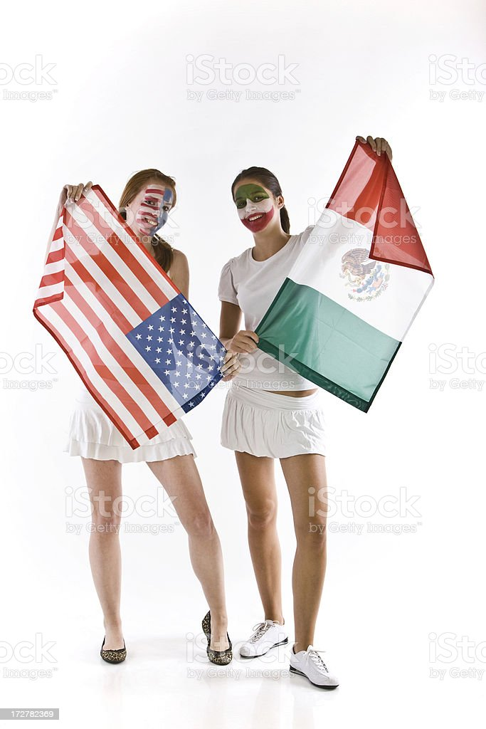 Olympic fans royalty-free stock photo