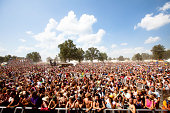 Fans waiting for the next performance at Bonnaroo Music Festival