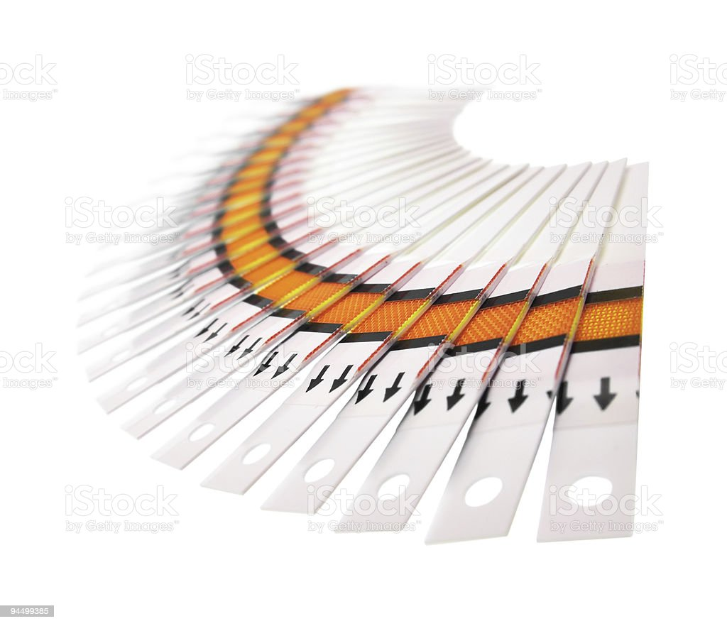 Fantail of the test strips royalty-free stock photo