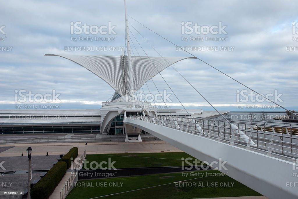 Fantastic architecture Milwaukee Art museum, Wisconsin, USA stock photo