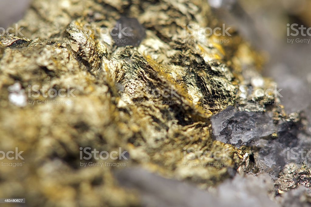 Fantastic background, magic of a stone, gold metal (big collecti stock photo