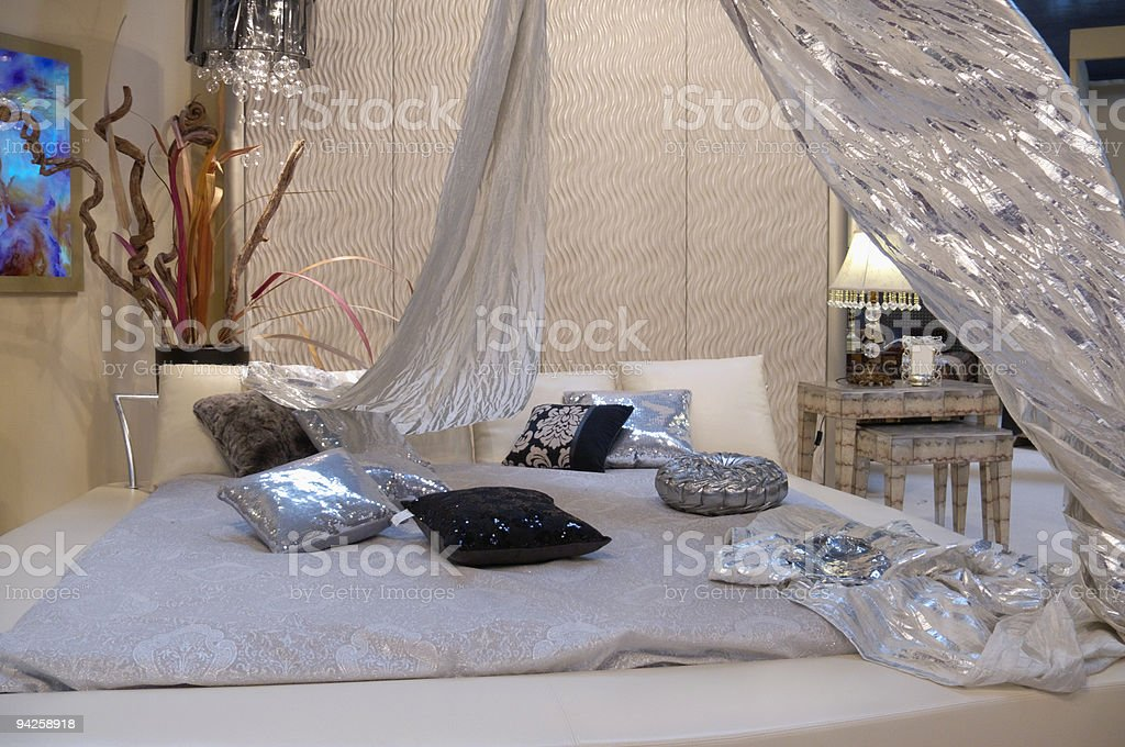 Fantastic Bedroom royalty-free stock photo
