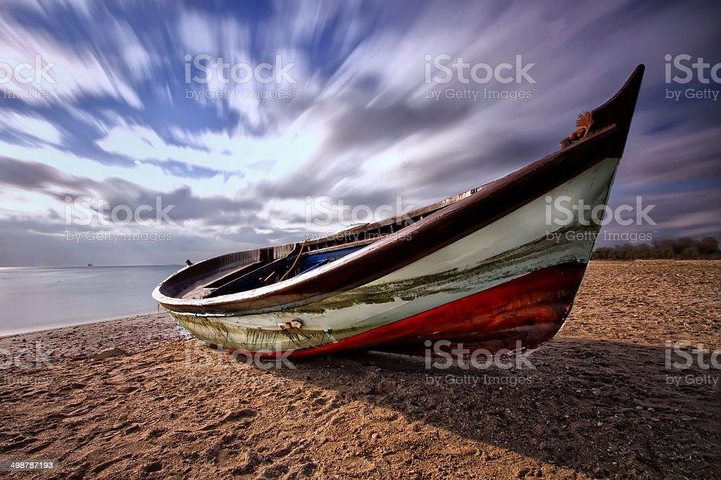 Fantastic boat stock photo