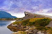 Fantastic bridge on the Atlantic road in Norway