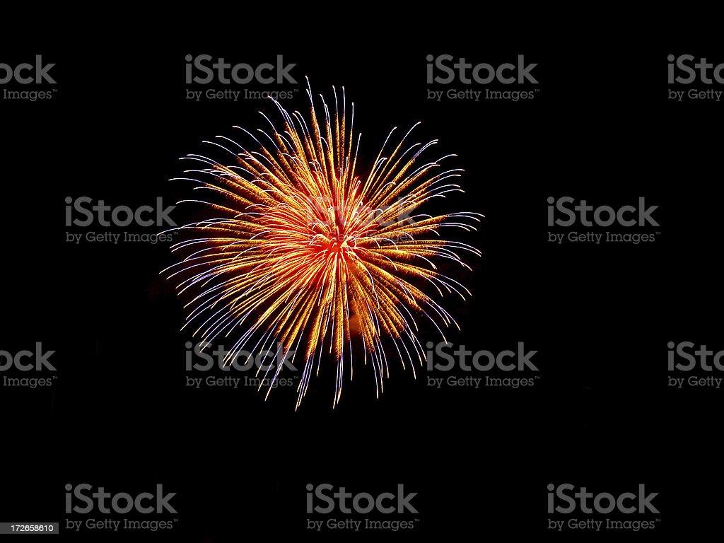fantastic fireworks royalty-free stock photo