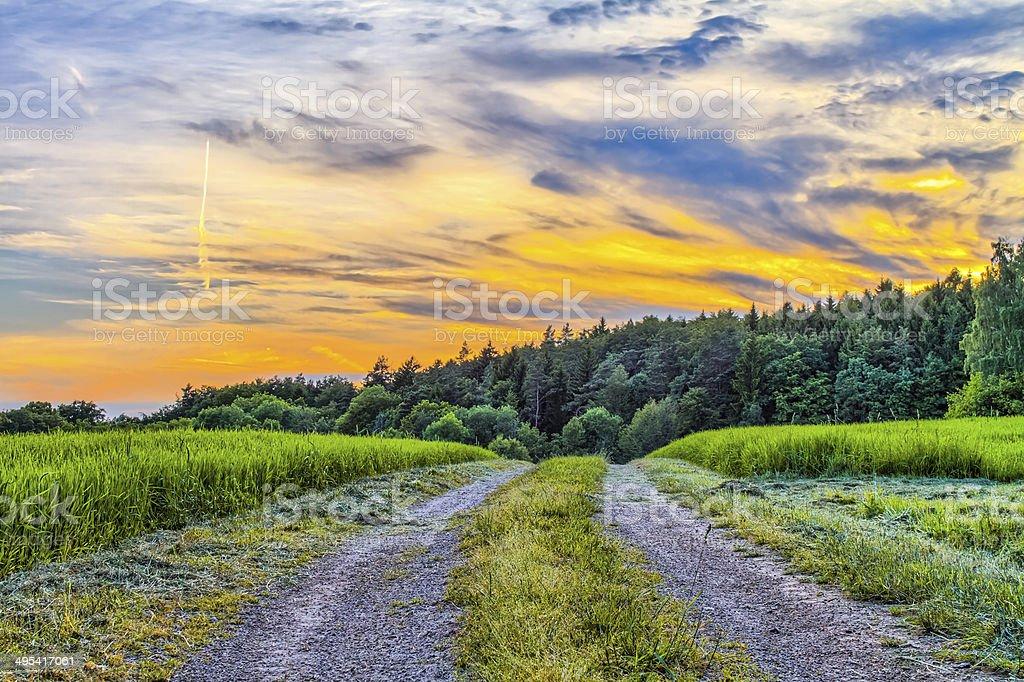 Fantastische fränkische Frühling Landschaft Lizenzfreies stock-foto
