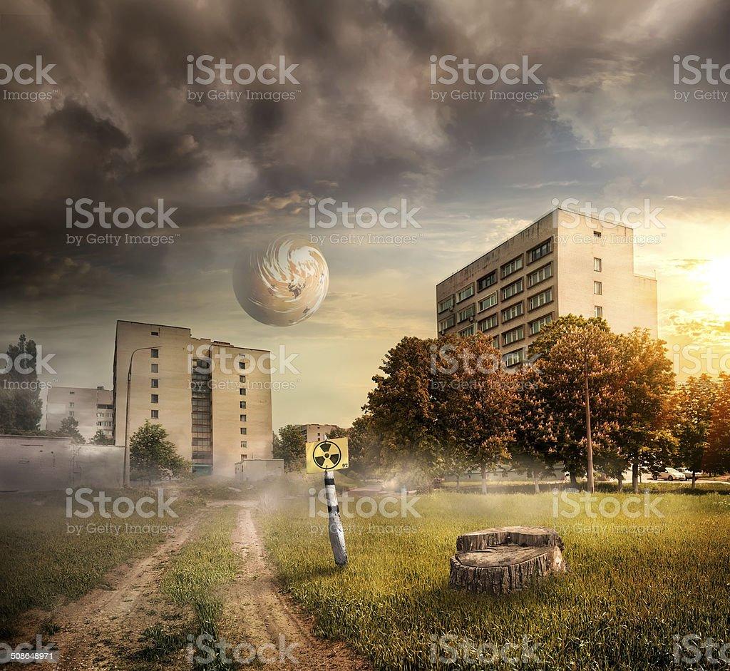 Fantastic landscape stock photo