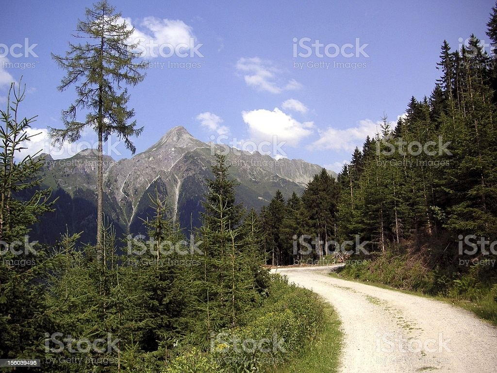 Fantastic mountain bike route in the mountains royalty-free stock photo